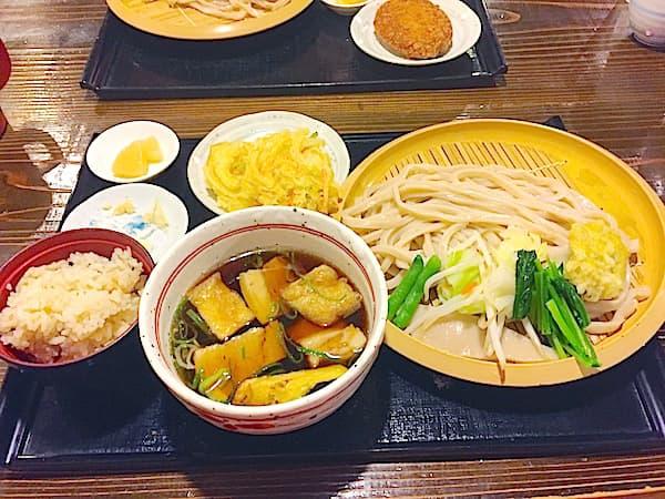 東京 箱根ヶ崎 満月うどん 肉うどんセット