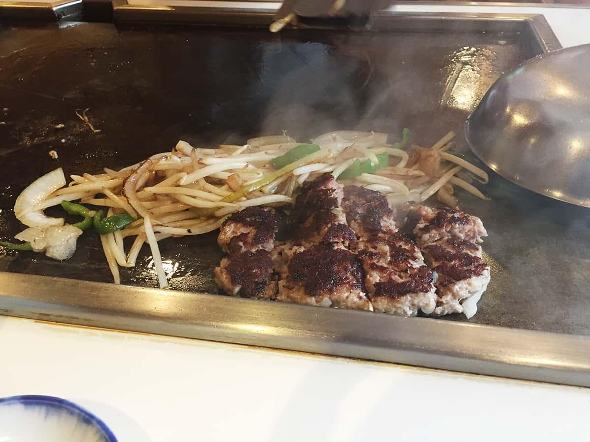 東京 池尻大橋 ステーキハウス鉄板焼 不二 ハンバーグステーキ