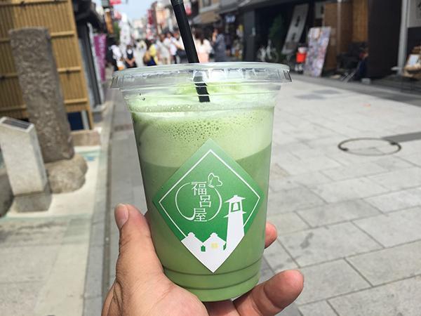 埼玉 川越 福呂屋|抹茶ラテ