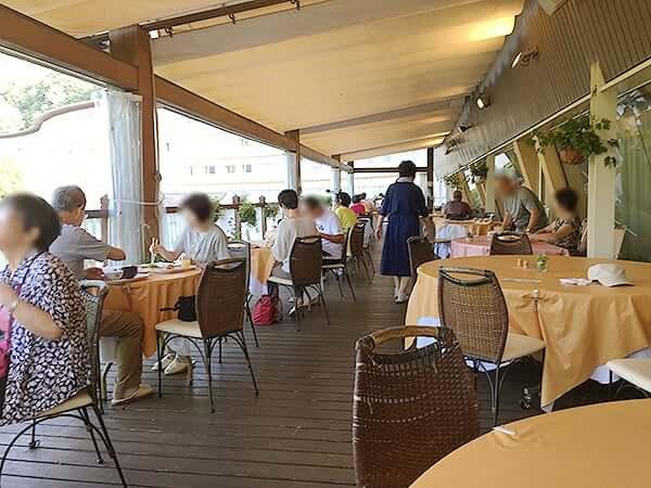 長野 安曇野 ホテル アンビエント安曇野 朝食テラス