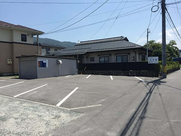長野 諏訪 鰻 小林 第二駐車場