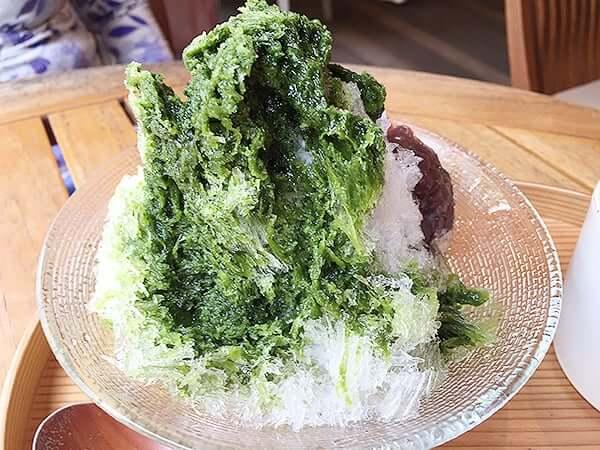 静岡県 御殿場 とらや工房|抹茶のかき氷