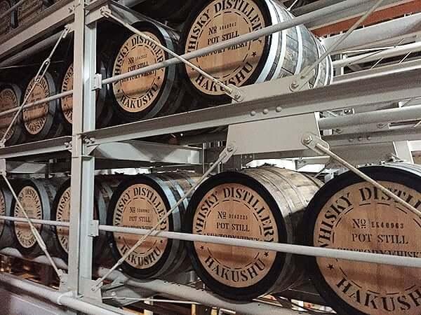 山梨 北杜 サントリー 白州蒸溜所|熟成樽