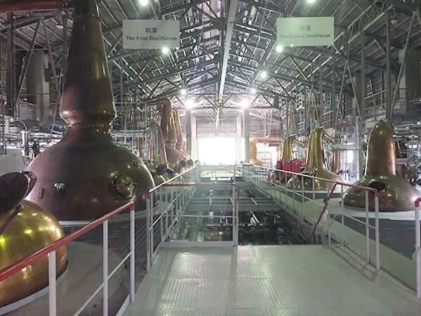 山梨 北杜 サントリー 白州蒸溜所|蒸留釜