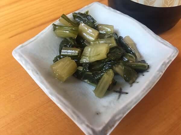 長野 安曇野 上條|野沢菜漬