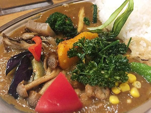 東京 武蔵小金井 カレーの店プーさん 野菜