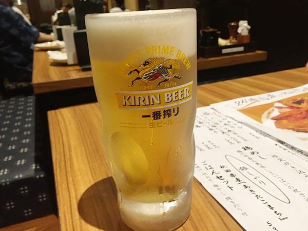 神奈川 横浜 炭火やきとり 伝兵衛 南店|生ビール