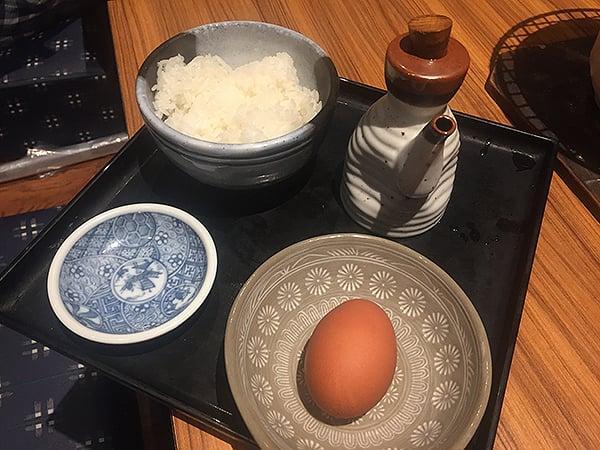 神奈川 横浜 炭火やきとり 伝兵衛 南店|玉子かけご飯