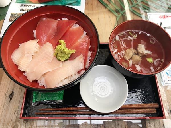 東京 勝どき マグロ卸のマグロ丼の店|まかない丼2