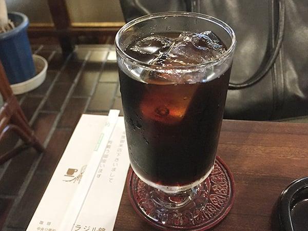 東京 西新宿 喫茶ブラジル|アイスコーヒー