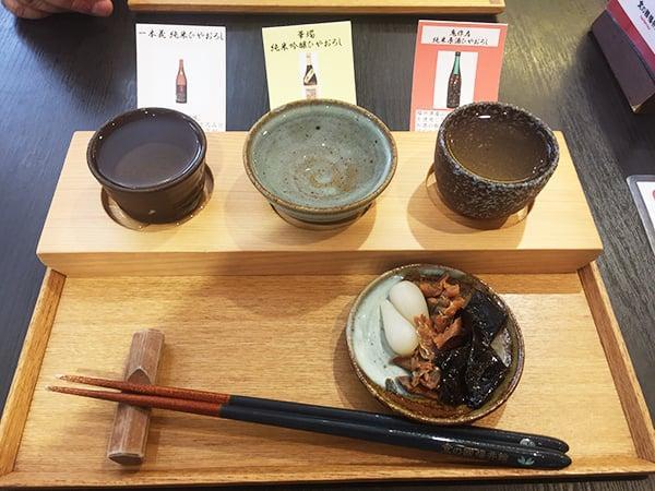 東京 有楽町 食の國 福井館|秋の利き酒3種セット