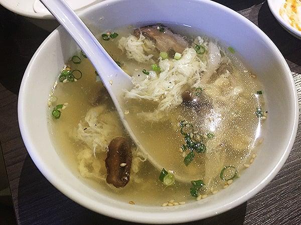 東京 新宿 焼肉酒家 李苑|玉子スープ
