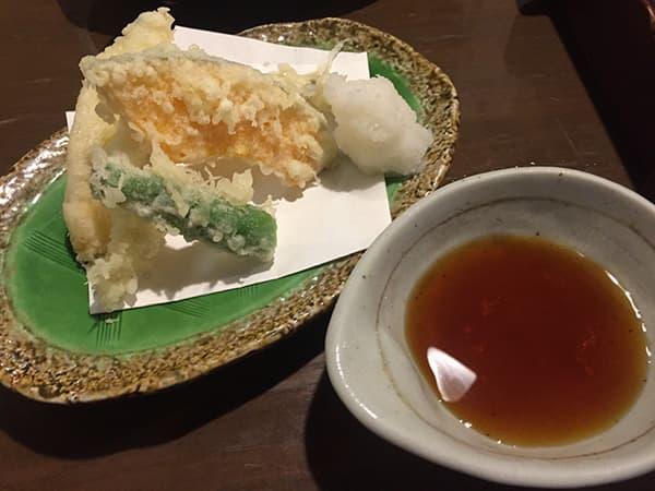 東京 日暮里 とお山 穴子天ぷら