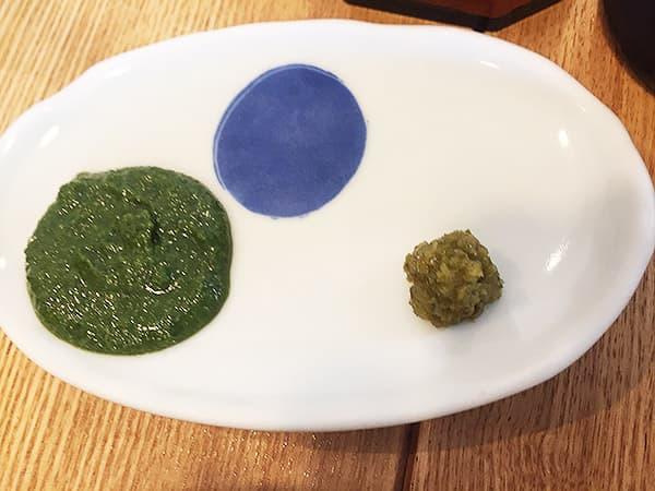 神奈川 小田原 うなぎ亭 友栄|ゆず胡椒と山椒味噌