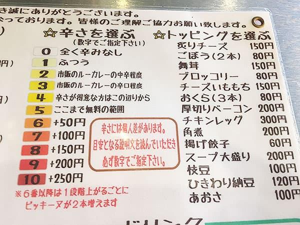 埼玉 川越 スープカレー専門店 plus one(プラスワン) トッピング