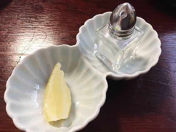 埼玉 坂戸 旬菜中華工房 岩塩・レモン