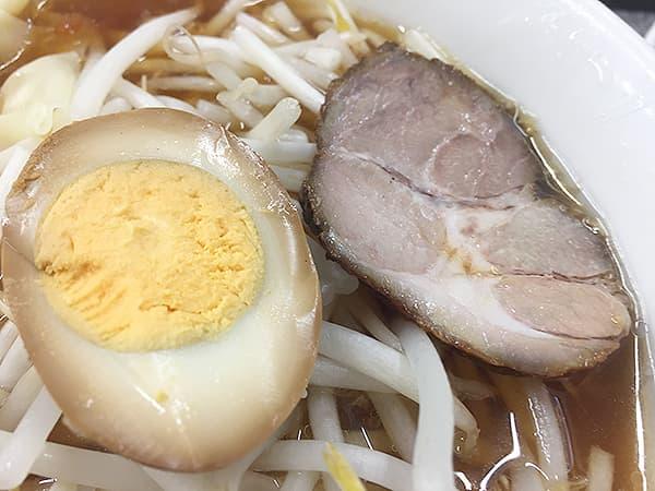 東京 渋谷 喜楽|味玉とチャーシュー