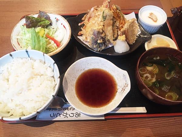 埼玉 上尾 高半 天ぷら定食