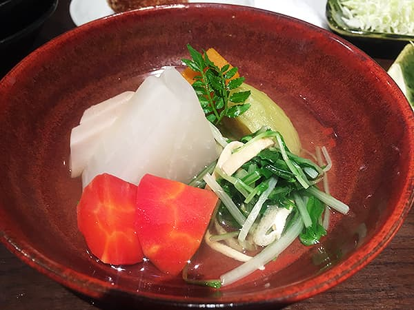 東京 銀座 俺の割烹 銀座本店|野菜炊き合わせ