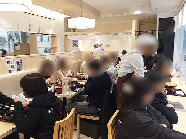 東京 丸の内 白えび亭 東京駅店|店内