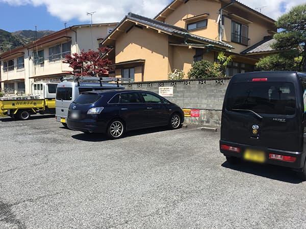 神奈川 湯河原 にこり|駐車場
