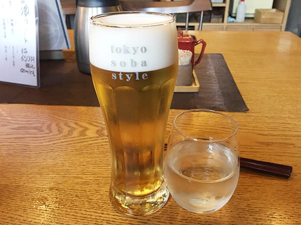 東京 大井町 そば道 東京蕎麦style 大井町本店 生ビール