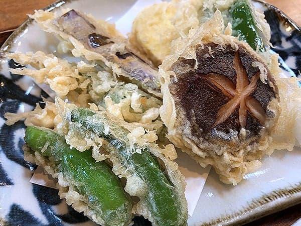 埼玉 ふじみ野 手打蕎麦ぐらの|野菜天ぷら