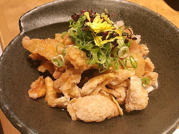 奈良 奈良市 やたがらす 皮パリパリポン酢
