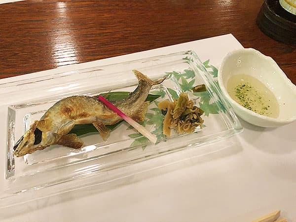 京都 右京区 高雄 錦水亭|鮎の塩焼き