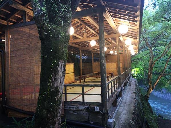 京都 右京区 高雄 錦水亭|川床