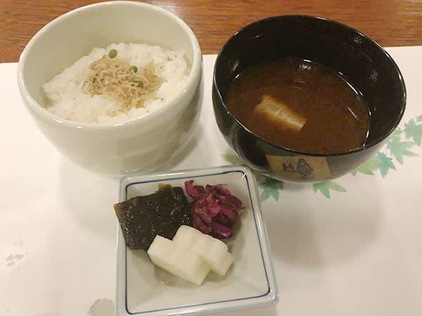 京都 右京区 高雄 錦水亭 ご飯