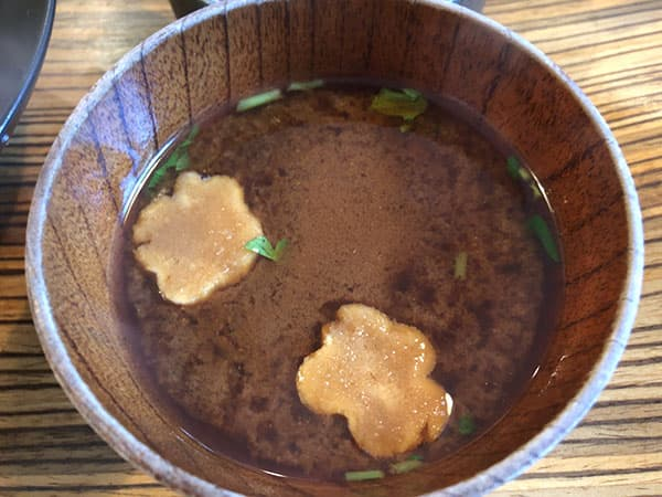 京都 右京区 佰食屋 赤味噌汁