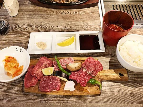 愛知 名古屋 A5焼肉&手打ち冷麺 二郎|三郎焼肉セット