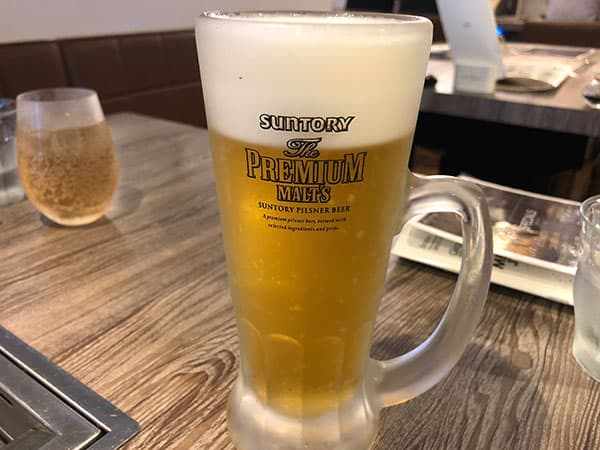 愛知 名古屋 A5焼肉&手打ち冷麺 二郎|生ビール