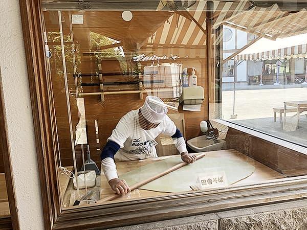 栃木 那須 水車館|そば打ち場