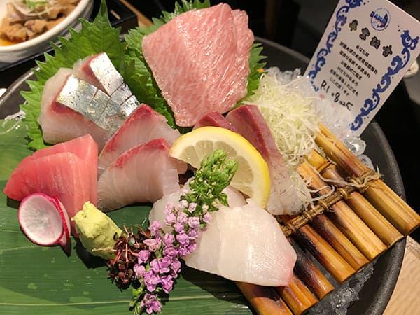 東京 銀座 近畿大学水産研究所 銀座店|鮮魚のお造り盛り