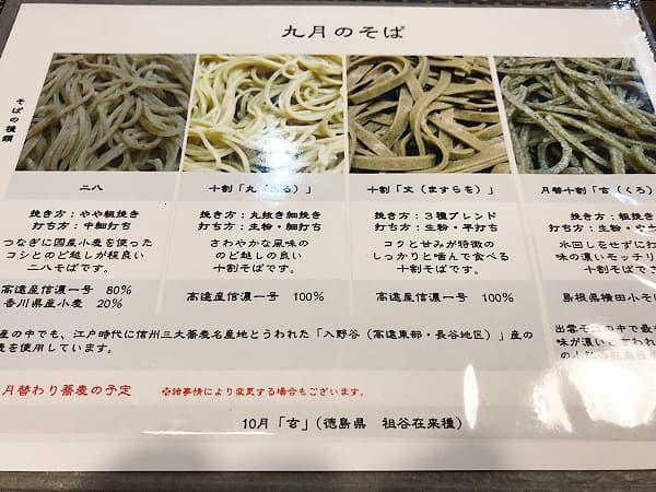 長野 高遠 壱刻|蕎麦の種類