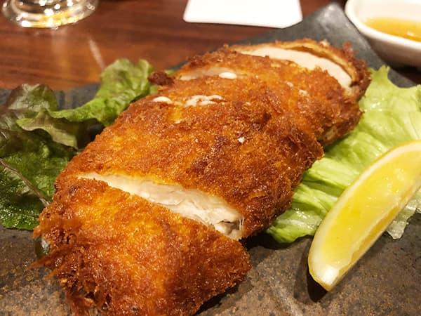 東京 新宿 げんかい食堂 ささみチーズカツ