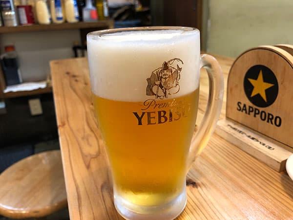 東京 新宿 タカマル鮮魚店 4号館 生ビール