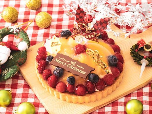 クリスマスケーキ2019 Xmasフルーツタルト 5号 14cm
