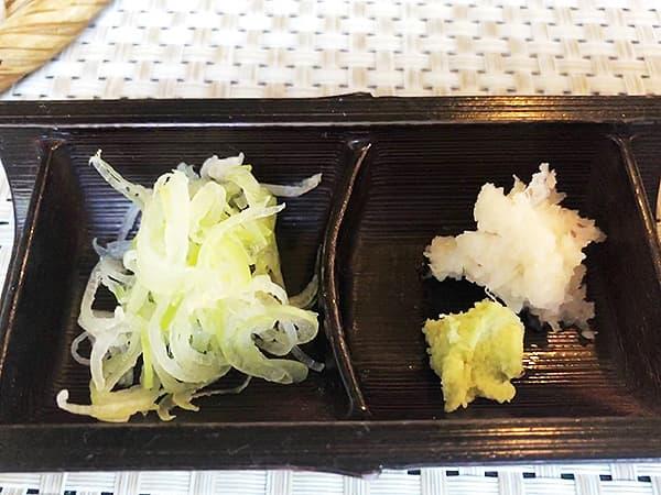 埼玉 北本 蕎麦 阿き津|薬味