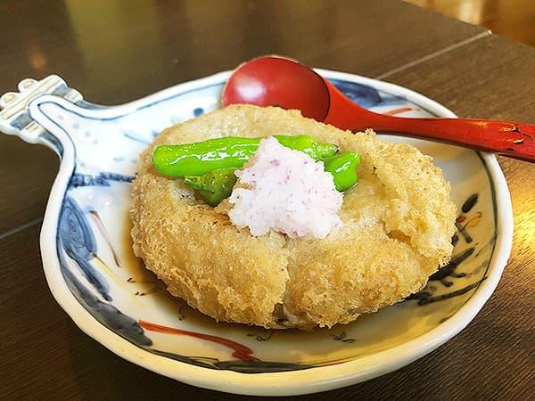 埼玉 北本 蕎麦 阿き津|揚げ蕎麦がき