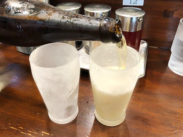 神奈川 川崎 天龍 銀座街店 冷えたグラス