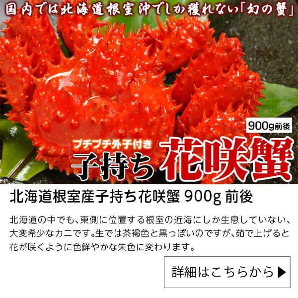 最北の海鮮市場|北海道根室産子持ち花咲蟹900g前後