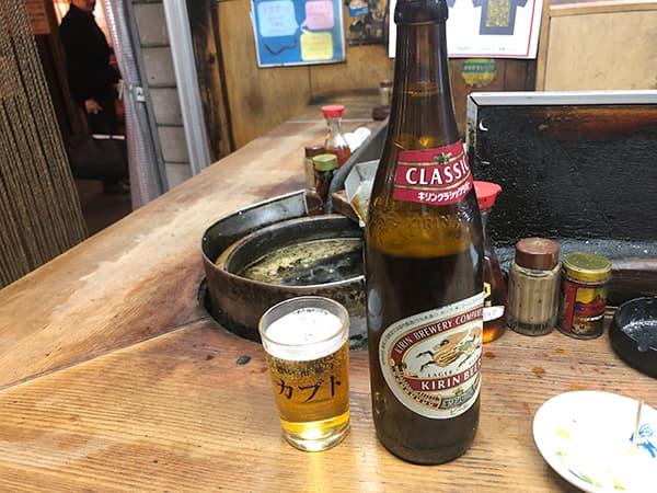 東京 新宿 カブト|瓶ビール(大)