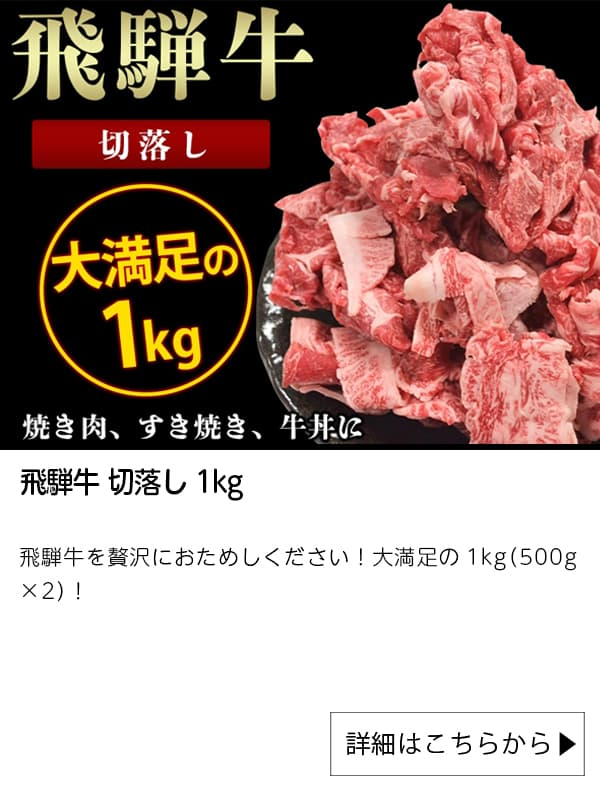 JAタウン|飛騨牛 切落し 1kg