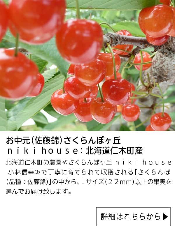 JAタウン|お中元(佐藤錦)さくらんぼヶ丘 niki house:北海道仁木町産