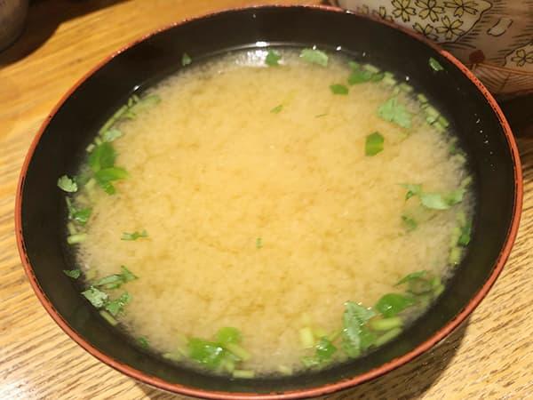 東京 日本橋 天丼 金子半之助 本店 お味噌汁
