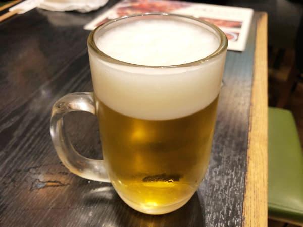 東京 新橋 地鶏屋|生ビール