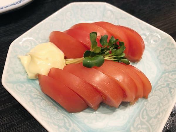 東京 新橋 地鶏屋|冷やしトマト
